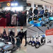 """消费者凌晨排队抢购雅迪冠能,掀起全国""""抢"""